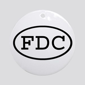 FDC Oval Ornament (Round)