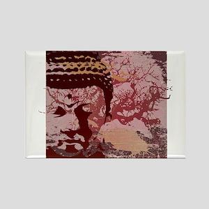 Tree Buddha Rectangle Magnet