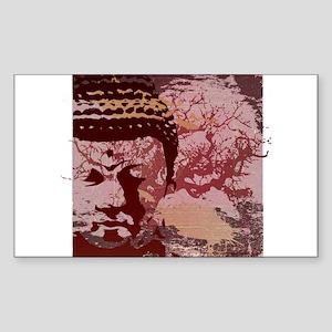 Tree Buddha Rectangle Sticker