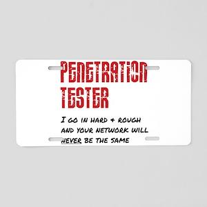 Penetration Tester: hard + Aluminum License Plate