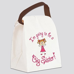 Im going to be a Big Sister! Canvas Lunch Bag