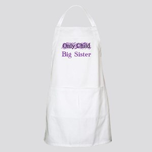 Only Child to Big Sister Apron