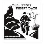 Desert Daze Logo 3&quo Square Car Magnet 3&quo