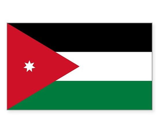 Jordan flag sticker rectangle