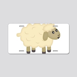 Sheep Aluminum License Plate