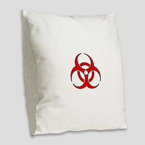 Biohazard Burlap Throw Pillow