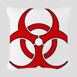 Biohazard Woven Throw Pillow