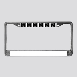tombstones graves f you mature License Plate Frame