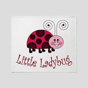 Little Ladybug Throw Blanket