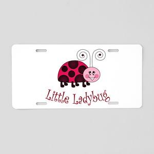 Little Ladybug Aluminum License Plate