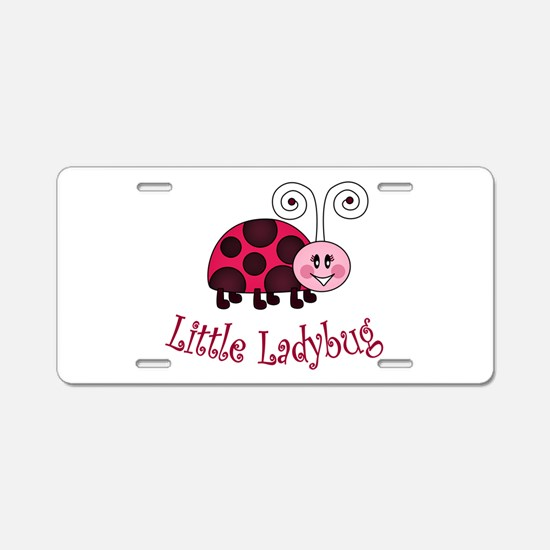 Little Ladybug Aluminum License Plate