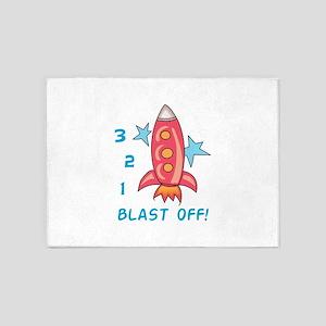 Blast Off! 5'x7'Area Rug