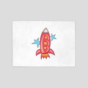 SPACE ROCKET 5'x7'Area Rug