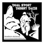 """Desert Daze Reversed Square Car Magnet 3"""" X 3"""