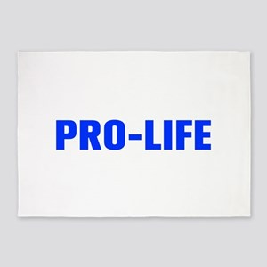Pro Life-Akz blue 500 5'x7'Area Rug
