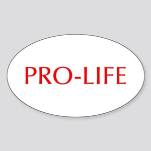 Pro Life-Opt red 550 Sticker