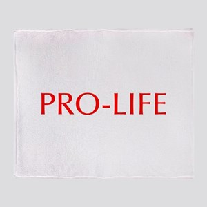 Pro Life-Opt red 550 Throw Blanket