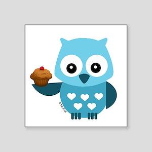 Pretty Blue Owl Sticker