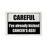 Kicked Cancer's Ass Rectangle Magnet (10 pack)