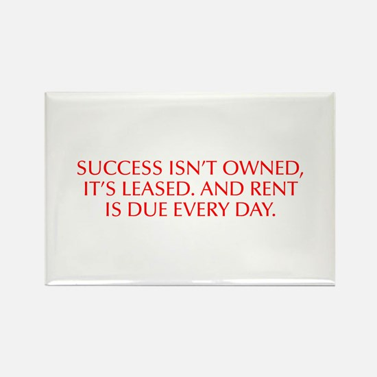 Success isn t owned it s leased And rent is due ev