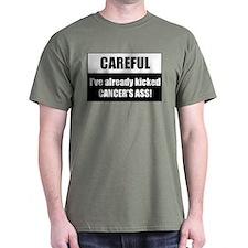 Kicked Cancer's Ass Dark T-Shirt