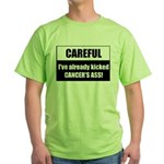 Kicked Cancer's Ass Green T-Shirt