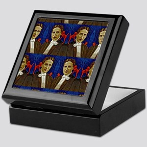 harry houdini devils red blue Keepsake Box
