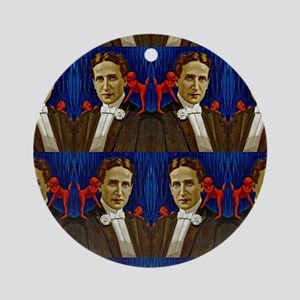 harry houdini devils red blue Ornament (Round)