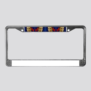 harry houdini devils red blue License Plate Frame