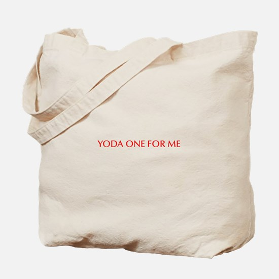 Yoda one for me-Opt red 550 Tote Bag