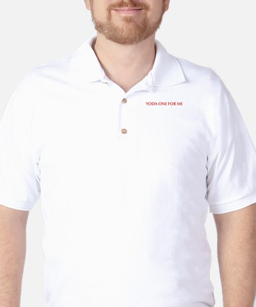 Yoda one for me-Opt red 550 Golf Shirt
