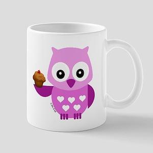 Pink Pretty Owl Mug