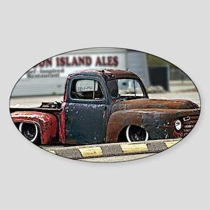 Rusty Rod Sticker (Oval)