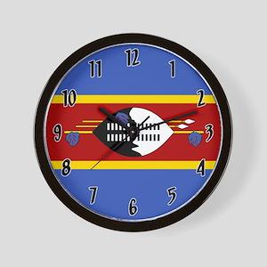 Flag of Swaziland Wall Clock