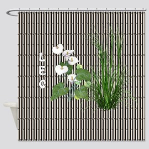Bamboo and Lily Leo Shower Curtain