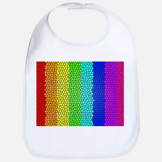 Rainbow colored stained glass Bib