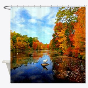 Connecticut Fall Colors Shower Curtain