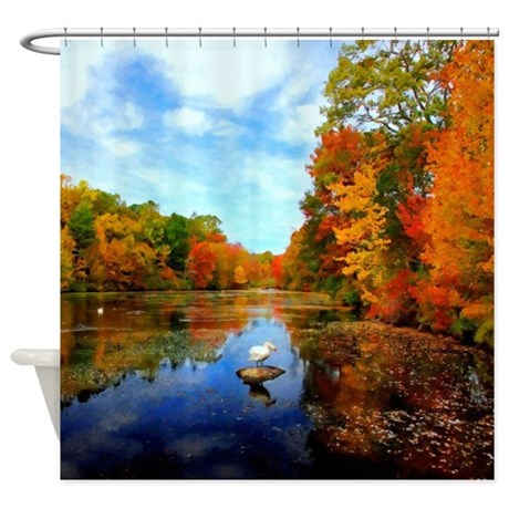 Connecticut Fall Colors Shower Curtain By Nationalparksouvenirs