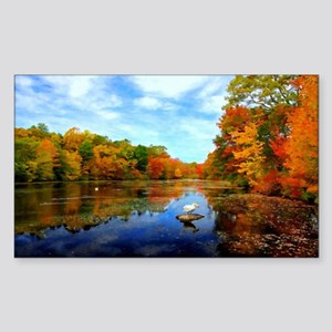 Connecticut Fall Colors Sticker (Rectangle)
