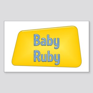 Baby Ruby Rectangle Sticker