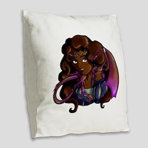 Lady Jolenta Burlap Throw Pillow