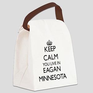 Keep calm you live in Eagan Minne Canvas Lunch Bag