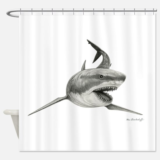 Great White Shark ~ Shower Curtain