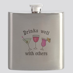 DRINKS WELL WITH OTHERS Flask