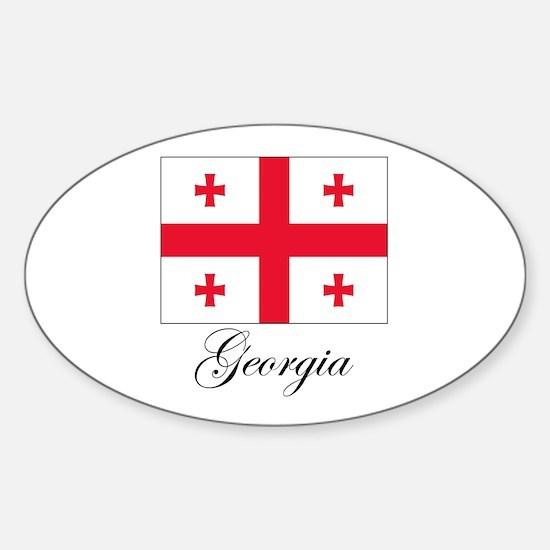 Georgia - Flag Oval Decal