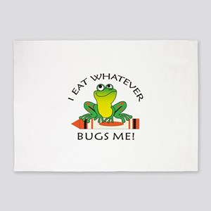 I EAT WHATEVER BUGS ME 5'x7'Area Rug