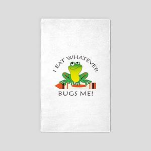 I EAT WHATEVER BUGS ME Area Rug