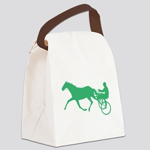 Green Harness Racing Canvas Lunch Bag