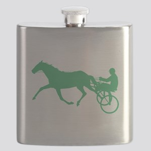Green Harness Racing Flask