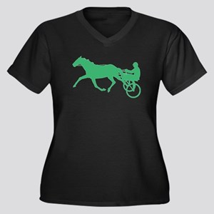 Green Harness Racing Plus Size T-Shirt